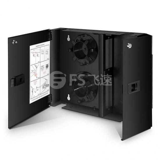 双开门壁挂式光纤配线箱 可装载2个适配器面板