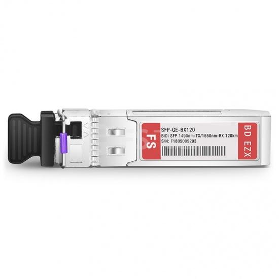 思科(Cisco)兼容GLC-BX120-U BiDi SFP千兆单纤双向光模块 1490nm-TX/1550nm-RX 120km