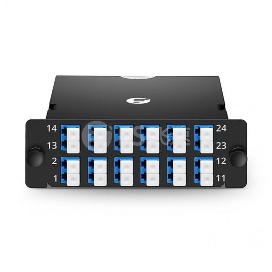 FHD 24芯 OS2 MTP®光纤配线盒,1xMTP®-24转12xLC双工,A极性,0.35dB插损