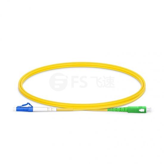 1m LC/UPC-SC/APC 单工单模OS2弯曲不敏感光纤跳线-2.0mm PVC(OFNR)