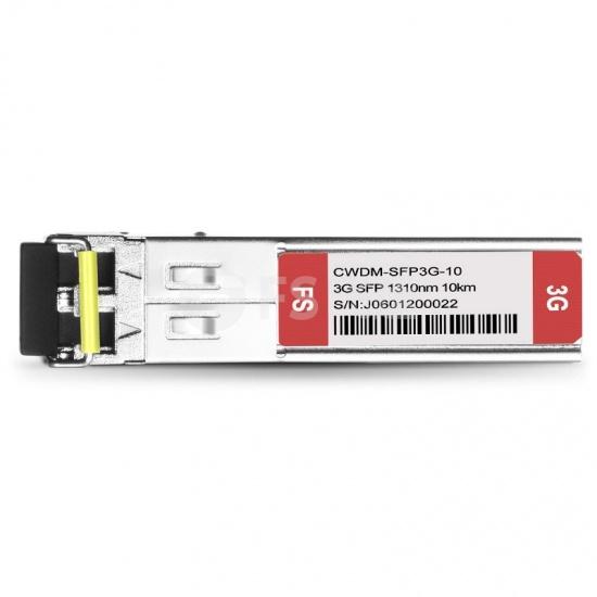 飞速(FS) 3G-SD/HD/3G-SDI MSA 数字视频 CWDM SFP光模块 1310nm 10km  收发一体 病理式