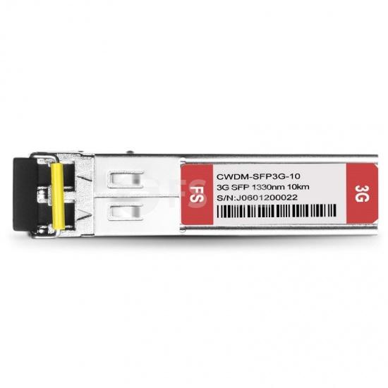 飞速(FS) 3G-SD/HD/3G-SDI MSA 数字视频 CWDM SFP光模块 1330nm 10km  收发一体 病理式
