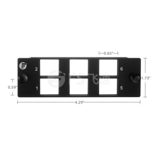 6口模块化多功能插线面板