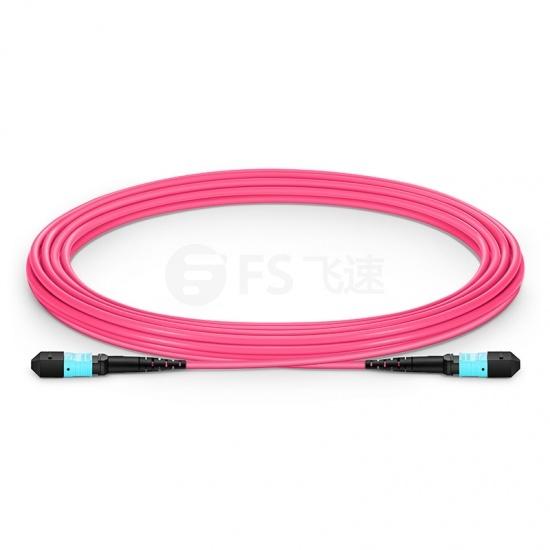5m 12芯 MTP®(母)万兆多模OM4主干光纤跳线, 极性A,低插损,Plenum (OFNP阻燃)