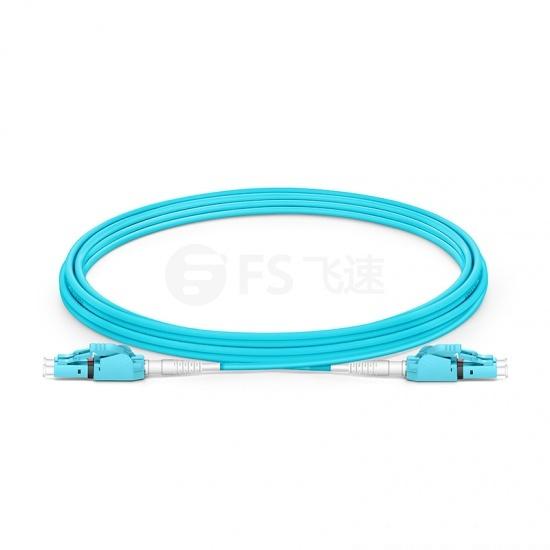 5m LC/UPC-LC/UPC 双工多模OM3极性转换式光纤跳线,PVC(OFNR)