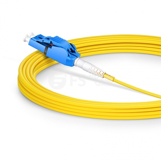 5m LC/UPC-LC/UPC 双工单模OS2极性转换式光纤跳线,PVC(OFNR)