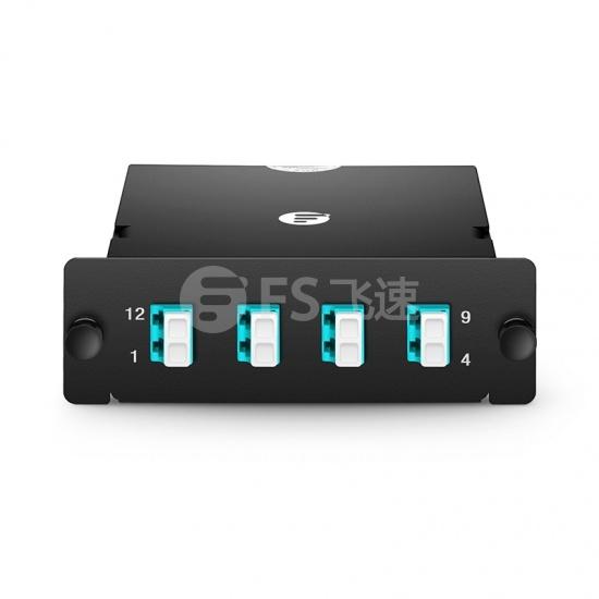 8芯   MTP-4x LC 双工万兆多模(OM4) 光纤配线盒 FHD