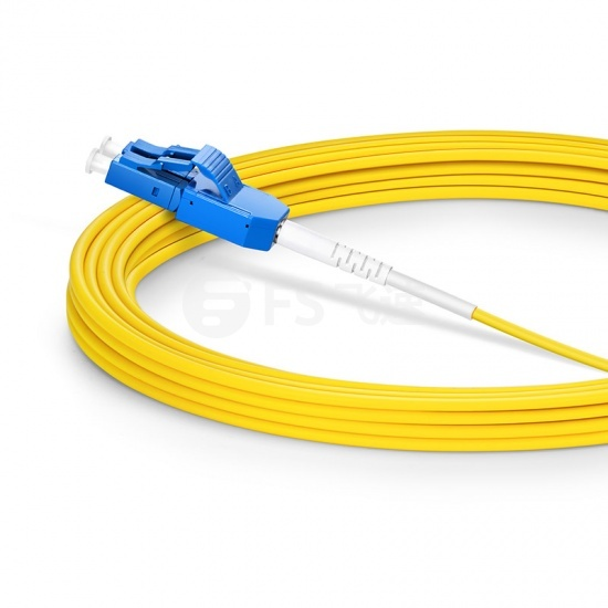 5m  LC/UPC-LC/UPC双工单模OS2光纤跳线,一管双芯,弯曲不敏感, PVC(OFNR)
