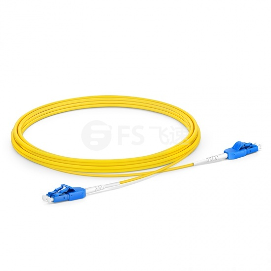 3m  LC/UPC-LC/UPC双工单模OS2光纤跳线,一管双芯,弯曲不敏感, PVC(OFNR)