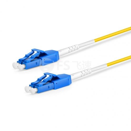 2m  LC/UPC-LC/UPC双工单模OS2光纤跳线,一管双芯,弯曲不敏感, PVC(OFNR)