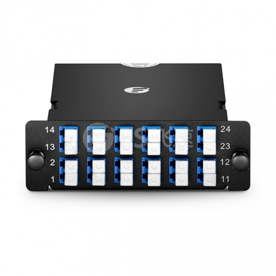 FHD 24芯 OS2 MTP®光纤配线盒,2xMTP®-12转12xLC双工,AF极性,0.35dB插损