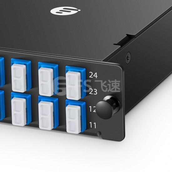 FHD 24芯 OS2 MTP®光纤配线盒,1xMTP®-24转12xLC双工,AF极性,0.35dB插损