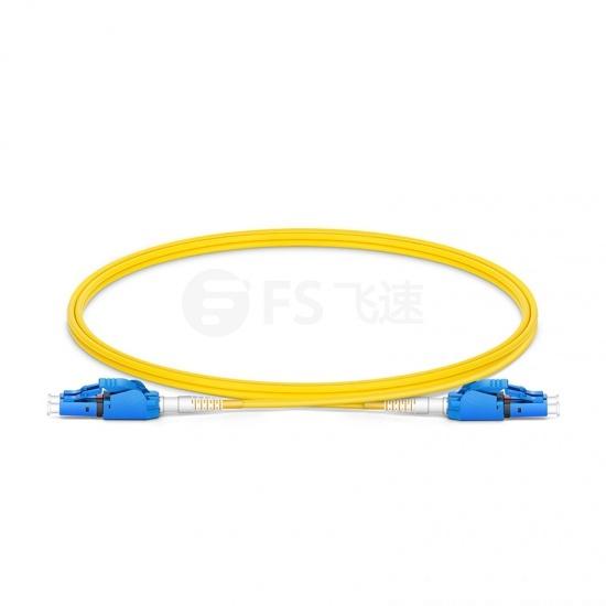 LC-LC双工单模OS2光纤跳线,一管双芯,弯曲不敏感,0.2dBIL低插损