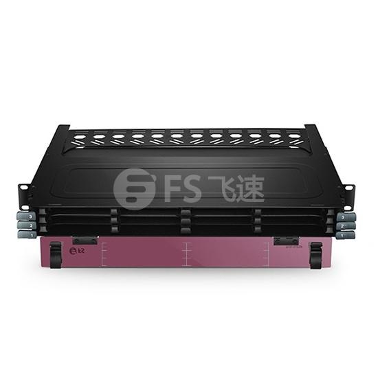 12口 1U机架式144芯超高密度光纤配线箱