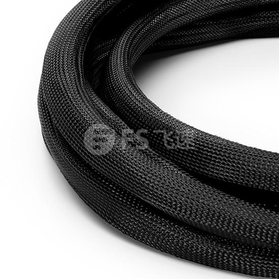 10M CAT6A超六类屏蔽预端接主干线缆 6*插口-6*插口,米白色,PVC CMR