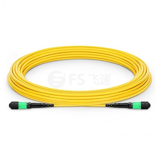 114.3m 12芯 MTP®(母)单模OS2主干光纤跳线,极性A,低插损,LSZH