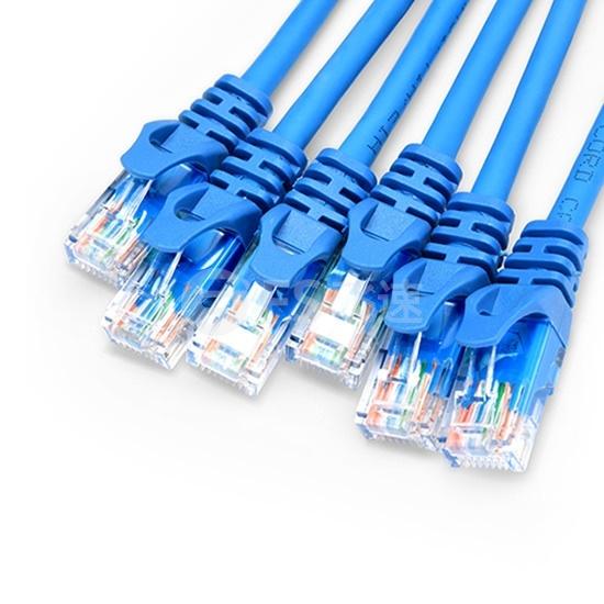15M CAT5E超五类屏蔽预端接主干线缆 6*插头-6*插头,蓝色,PVC CMR