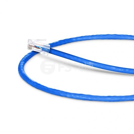 0.6m Cat5e超五类非屏蔽(UTP)网络跳线,无尾套设计,蓝色,PVC  CM