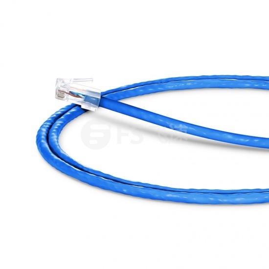 1.2m Cat5e超五类非屏蔽(UTP)网络跳线,无尾套设计,蓝色,PVC  CM