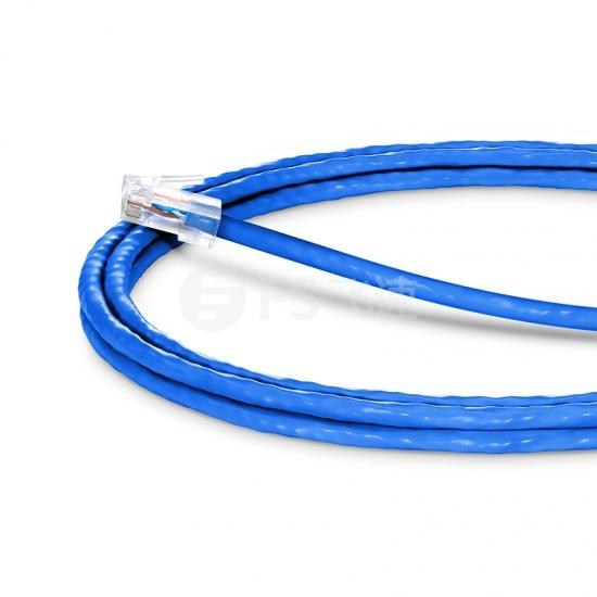 1.5m Cat5e超五类非屏蔽(UTP)网络跳线,无尾套设计,蓝色,PVC  CM