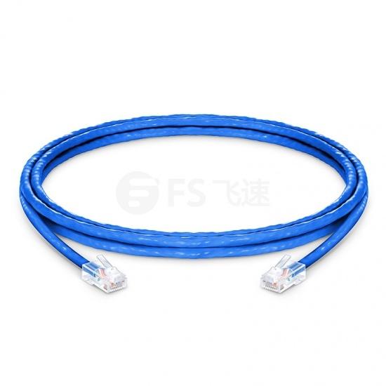 1.8m Cat5e超五类非屏蔽(UTP)网络跳线,无尾套设计,蓝色,PVC  CM