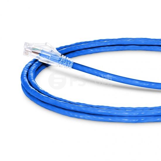 2.4m Cat6六类非屏蔽(UTP)网络跳线,卡沟设计,蓝色,PVC CM