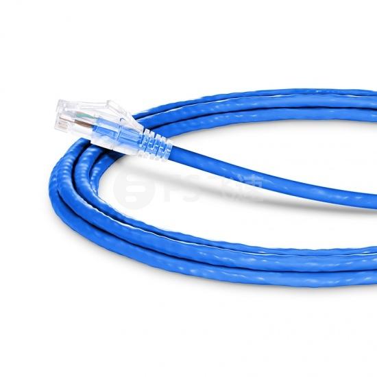 3.7m Cat6六类非屏蔽(UTP)网络跳线,卡沟设计,蓝色,PVC CM