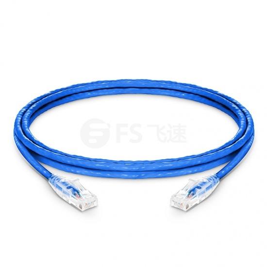 1.5m Cat6六类非屏蔽(UTP)网络跳线,卡沟设计,蓝色,PVC CM