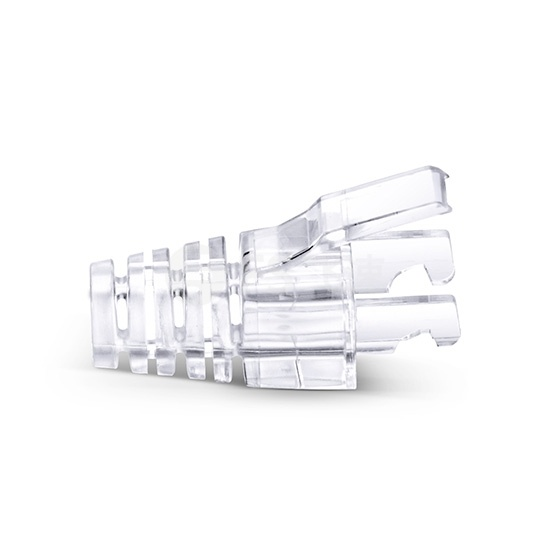 Cat5e非屏蔽(UTP) RJ45水晶头保护套-透明色 50个/袋