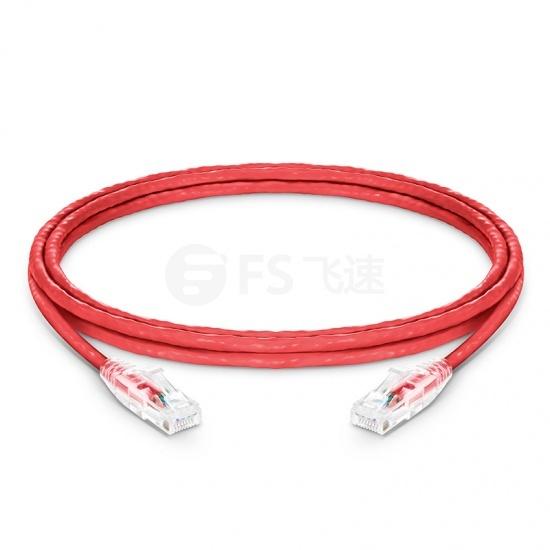 1.8m Cat5e超五类非屏蔽(UTP)网络跳线,卡沟设计,红色,PVC  CM