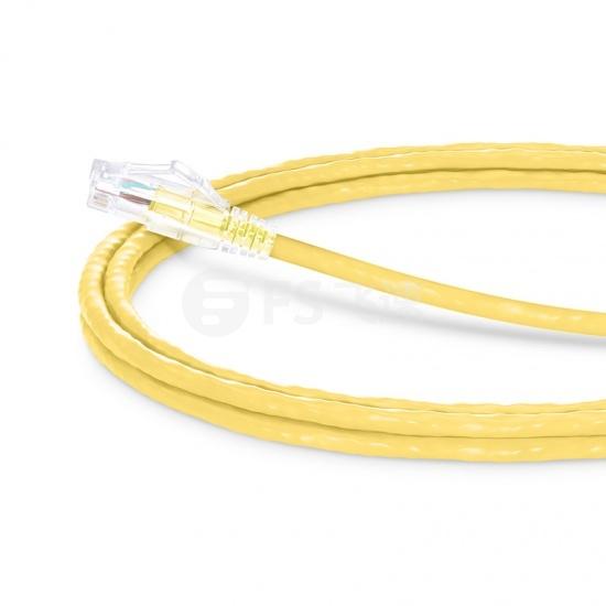 1.8m Cat5e超五类非屏蔽(UTP)网络跳线,卡沟设计,黄色,PVC  CM