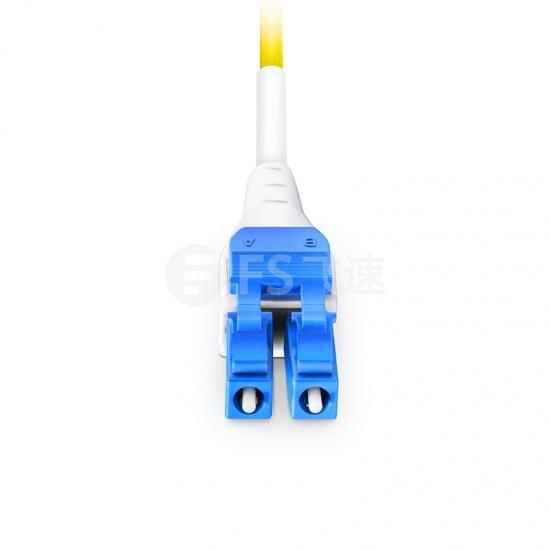3m LC/UPC-LC/UPC 双工单模BIF光纤跳线,一管双芯, 扁平卡扣, PVC(OFNR)