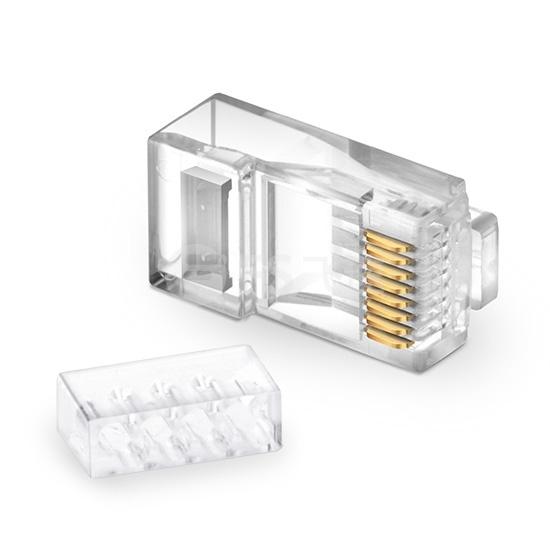 Cat6 六类非屏蔽RJ45标准网线水晶头 (50个/包)