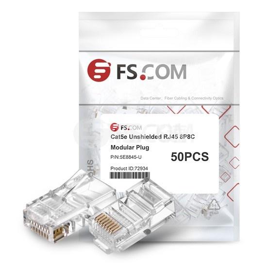 Cat5e超五类非屏蔽RJ45标准网线水晶头 (50个/包)