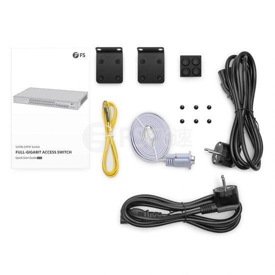 S3900-48T4S Layer2+千兆可堆叠网管机架式交换机(48*10/100/1000BASE-T+ 4*10G上行口),双电源