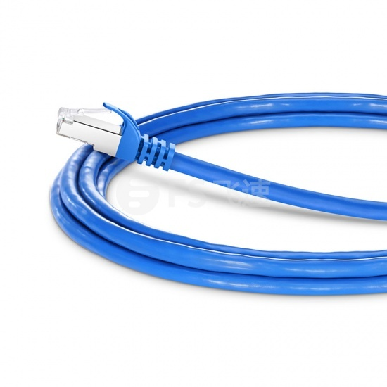 3m Cat7七类双屏蔽(SFTP)网络跳线,卡沟设计,蓝色,PVC CMX