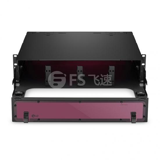 升级版 2U机架式高密度光纤配线箱