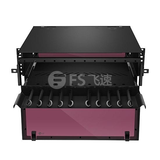 升级版 4U 432芯 抽屉式高密度光纤配线箱,空机箱