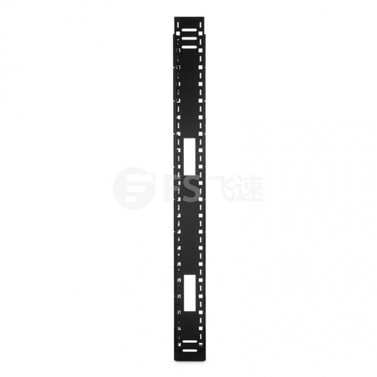 42U 单面垂直理线架,带2个盖板