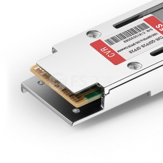 中性(Generic)兼容 CVR-QSFP28-SFP28 100G QSFP28 转 25G SFP28 转换模块