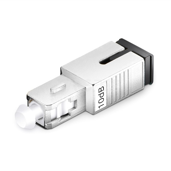 SC/UPC 单模固定式光纤衰减器,公头-母头, 10dB,(10pcs/包)