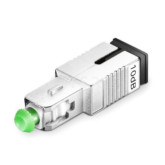 SC/APC 单模固定式光纤衰减器,公头-母头, 10dB,(10pcs/包)