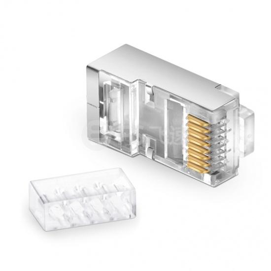 Cat6 六类屏蔽RJ45标准网线水晶头 带固定配件(50个/包)