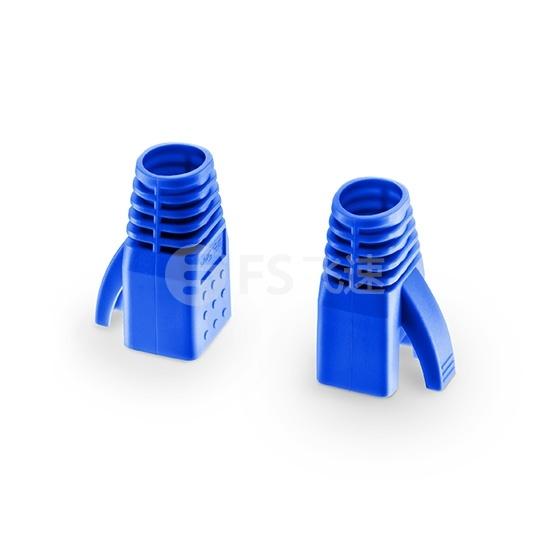 Cat6屏蔽(STP) RJ45水晶头保护套-蓝色 50个/袋