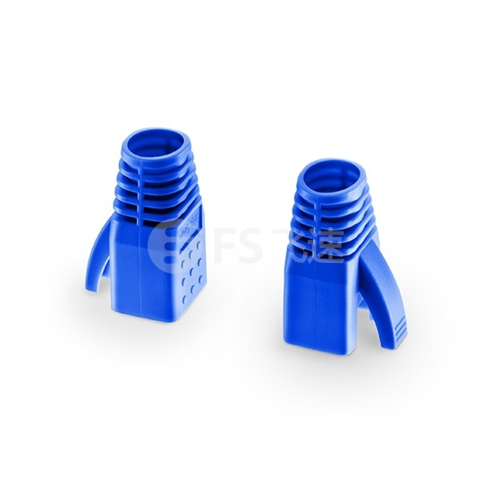 Cat6a屏蔽(STP) RJ45水晶头保护套-蓝色 50个/袋