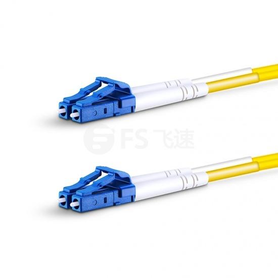 1.5m LC/UPC-LC/UPC双工单模OS2光纤跳线-2.0mm PVC(OFNR)