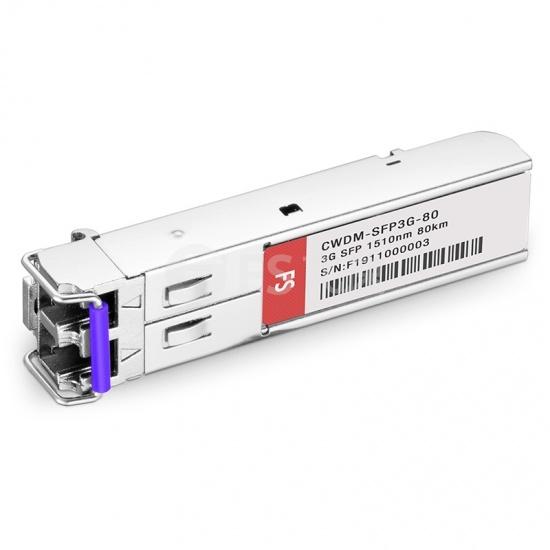 飞速(FS) 3G-SD / HD / 3G-SDI MSA数字视频CWDM SFP光模块1510nm 80km   收发一体 病理式