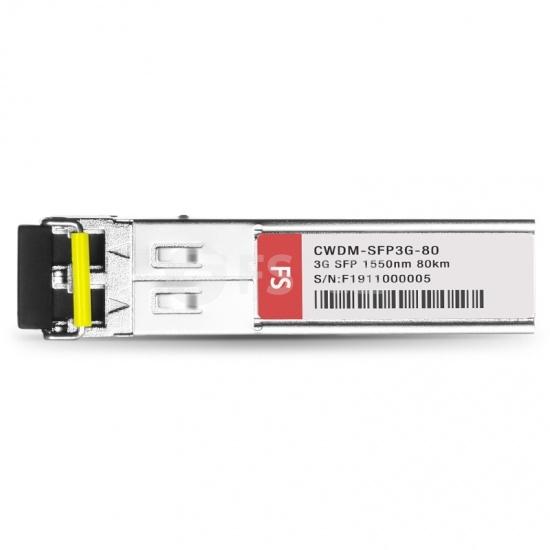 飞速(FS) 3G-SD / HD / 3G-SDI MSA数字视频CWDM SFP光模块1550nm 80km   收发一体 病理式