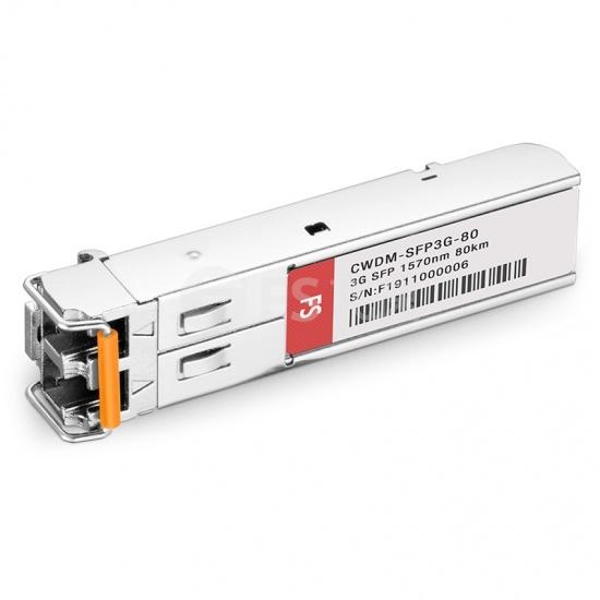 飞速(FS) 3G-SD / HD / 3G-SDI MSA数字视频CWDM SFP光模块1570nm 80km   收发一体 病理式