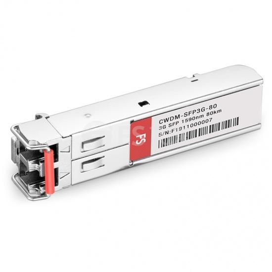 飞速(FS) 3G-SD / HD / 3G-SDI MSA数字视频CWDM SFP光模块1590nm 80km   收发一体 病理式